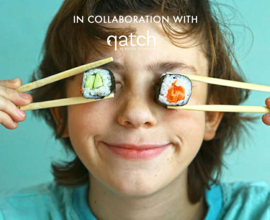 Teens: Hand rolled sushi in collaboration with Qatch