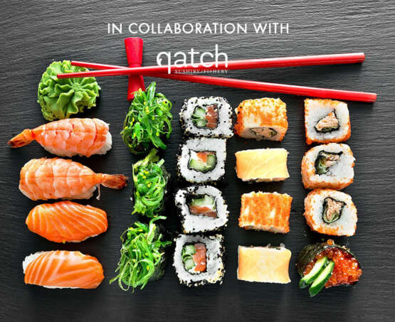 Master homemade sushi in collaboration with Qatch