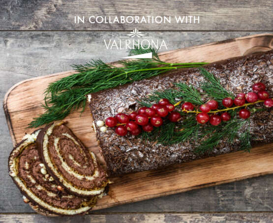 Christmas pastry package in collaboration with Valrhona